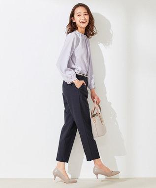 any SiS S 【美人百花5月号掲載】2WAYレディテーパード パンツ ネイビー