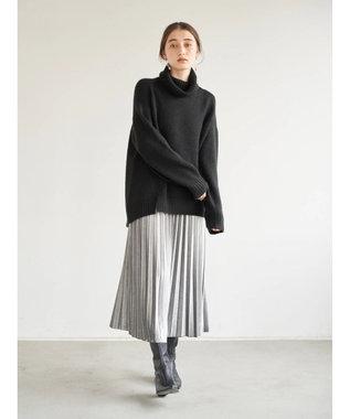 YECCA VECCA ・ベロアプリーツスカート Light Gray
