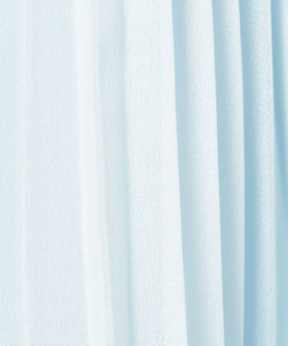 any FAM KIDS 【100-130cm】シフォンプリーツ ワンピース サックスブルー系