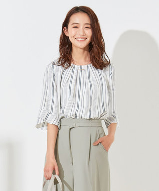 【美人百花5月号掲載】ラッフルフレアースリーブ ブラウス