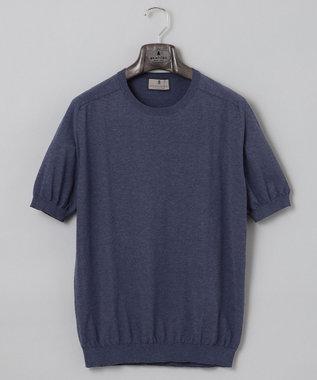 GOTAIRIKU 【大人のカジュアルTOPS&ジャケットinにも】ニットTシャツ ネイビー系