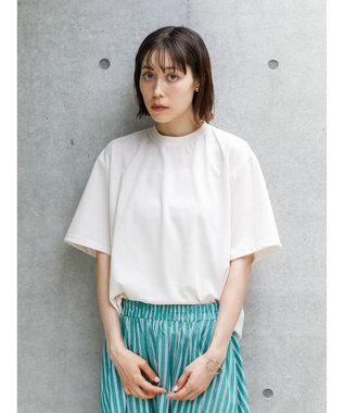 koe 梨地天竺クルーネックTシャツ White