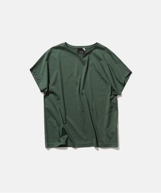 ATON SUVIN 60/2   キャップスリーブTシャツ GREEN