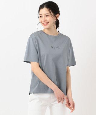 J.PRESS LADIES S PRINT TEE Tシャツ サックスブルー系