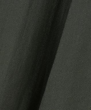 組曲 S 【洗える】アートタッチフラワープリント スカート(KM27) ダークグリーン系