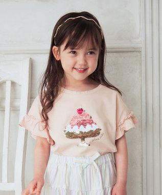 ミラクルスパンコール フリル袖 Tシャツ