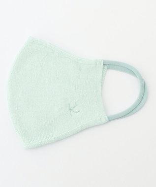組曲 【抗菌・防臭】メッシュケース付き K刺繍マスク グリーン×ブルー