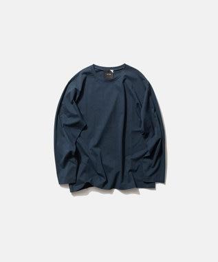 ATON NUBACK COTTON | ロングスリーブTシャツ - UNISEX NAVY