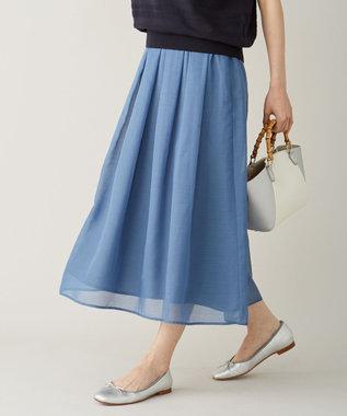 【洗える】ブライトスパンボイルAタック スカート