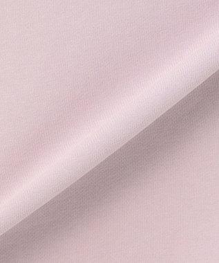 Feroux 【洗える】ジップスリットフェミニン裏毛 パーカーワンピース ライラック系