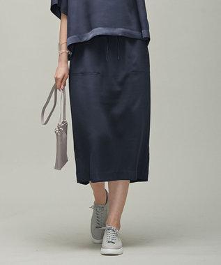 【マガジン掲載】 Fluid Back Satin ドロスト スカート(番号CK32)