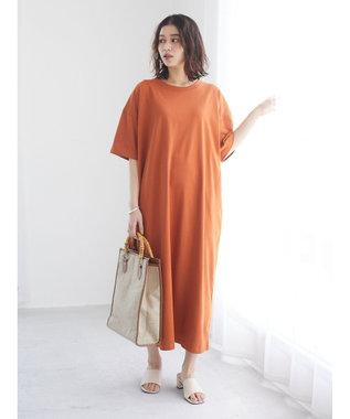 Green Parks バックプリントTシャツワンピース Orange