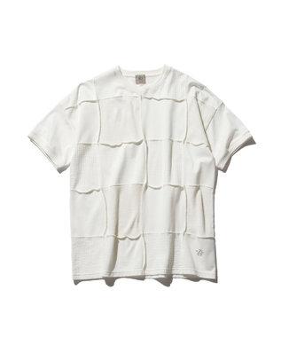 J.PRESS MEN 【大人気】フォギーダイ パッチワークTシャツ ホワイト系