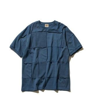 J.PRESS MEN 【大人気】フォギーダイ パッチワークTシャツ ブルー系