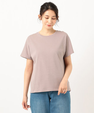 any FAM L 【定番人気】【UVケア】プレミアムベーシック Tシャツ ブラウン系