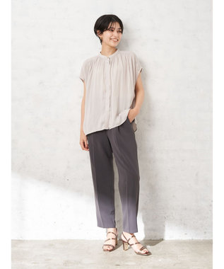 YECCA VECCA ・タックスリムストレートパンツ Charcoal Gray