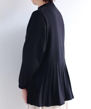muuc コットンのフレアーシルエットプルオーバー ブラック