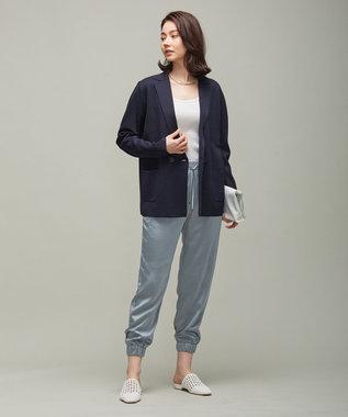 ICB L 【洗える】 ComfortMilano ニットジャケット ネイビー系