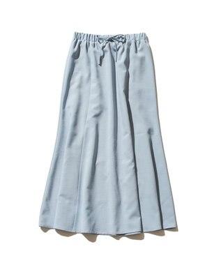 J.PRESS YORK STREET 【WOMEN】【接触冷感】リネンライク マーメイドスカート ブルー系