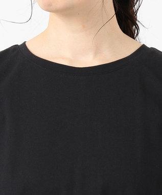 any SiS L 【L'aube】バックフレアーディテール カットソー ブラック