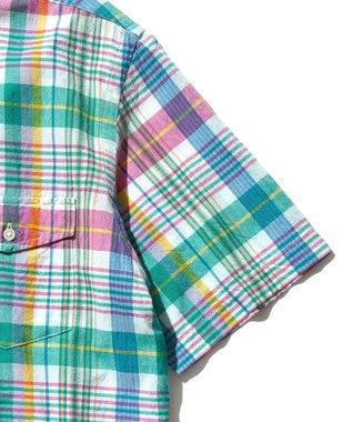 J.PRESS MEN インドマドラスチェック ボタンダウンシャツ ライトグリーン系3