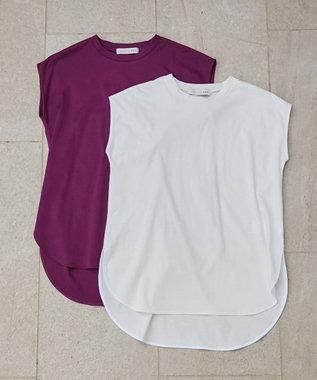 自由区 【UNFILO/撥水・汗シミ防止】カラーファンクション ノースリーブ Tシャツ ホワイト系