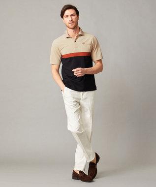 DAKS 【WEB&一部店舗限定】ハウスカラーブロック ハイゲージカノコ ポロシャツ ブラック系