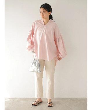 AMERICAN HOLIC 袖ギャザースキッパーシャツ Pink