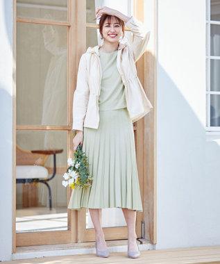 any SiS L 【洗える】フェミニンフレア セットアップ ミント
