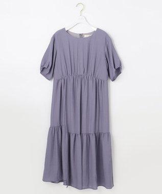 any SiS L 【洗える】イレヘムティアード ワンピース ライラック系