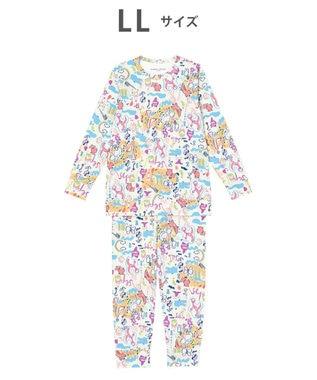 tsumori chisato SLEEP パジャマ ロング袖ロングパンツ スムース素材 /ワコール UDO259 クリーム