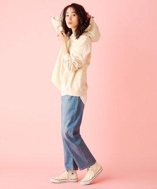 any FAM L USAコットン裾テール  ロングTシャツ アイボリー系