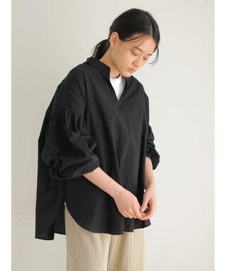 AMERICAN HOLIC 袖ギャザースキッパーシャツ Black