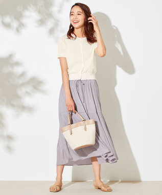 any SiS S 【洗える】ハーフスリーブ カーディガン オフホワイト