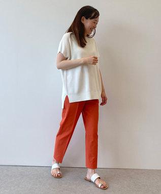 自由区 【接触冷感・吸水速乾・UVカット】パーフェクトパンツ テーパード オレンジ系