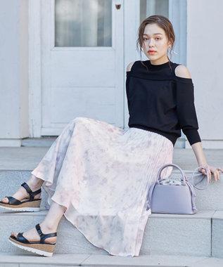 【洗える】Pastelミスティプリント スカート