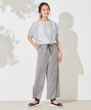 any SiS 【洗える】カールマイヤー ブラウス ライトブルー