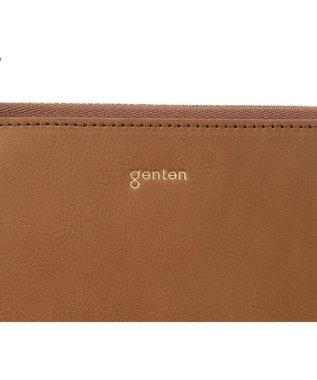 genten 【2021春夏新型】 ピアチェーレ フラグメントケース キャメル