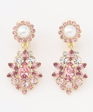 TOCCA NOBLE GLITTER EARRINGS イヤリング ピンク系