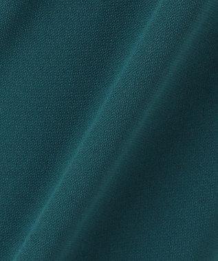 組曲 【洗える】ダブルクロス ストレートパンツ ダークグリーン系