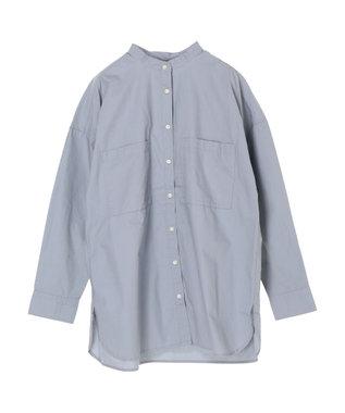 Green Parks 両ポケット付きワークチュニシャツ Blue