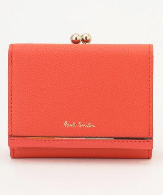 Paul Smith レイヤードストライプ 3つ折り財布 ピンク系