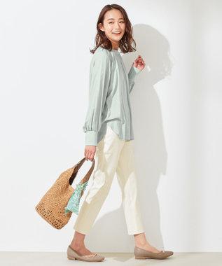 any SiS S 【洗える】カデーレ ブラウス ライトグリーン系