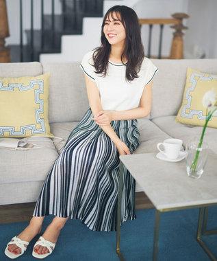 【セットアップ可】シアーマルチカラーニット スカート
