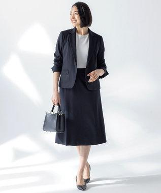 自由区 【Sサイズ有】360°FREE ウォッシャブル スカート ネイビー系