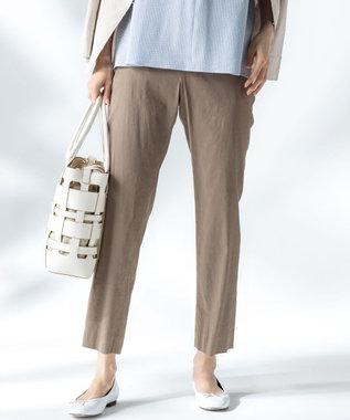 【中村アンさん着用】リネンビスコーステーパード パンツ(番号H52)