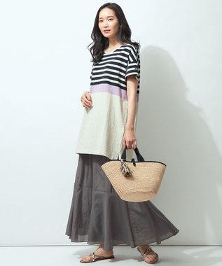【Sサイズ有】コットンシルク  ティアード スカート