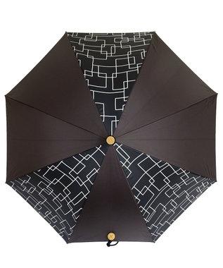 +RING 【プラスリング】【数量限定】レディース向け 晴雨兼用(長ショート) 遮光 BLK-PTN T938 黒