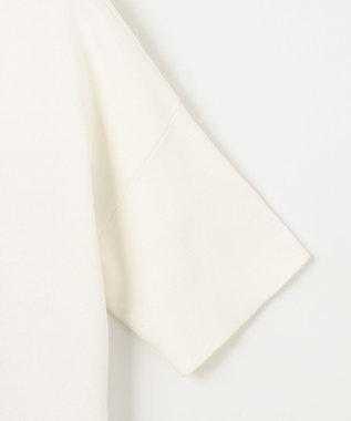自由区 L 【UNFILO】シャツコンビ チュニック丈 ニット ホワイト系