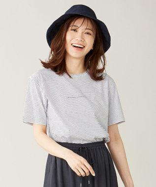 J.PRESS LADIES ミニロゴ Tシャツ ホワイト系1